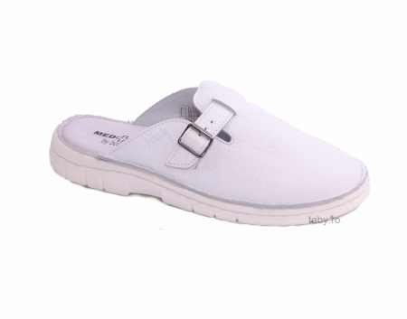 Papuci medicali barbati Medline 342 alb neperforat1