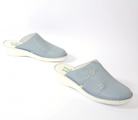 Papuci piele naturala Medline, Zinc 298 [2]