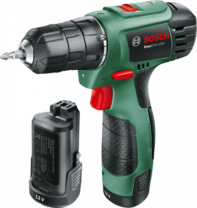 Bosch Easy Drill 1200 Masina de gaurit si insurubat LiIon, 12V, 1650 rpm, 2 viteze 0