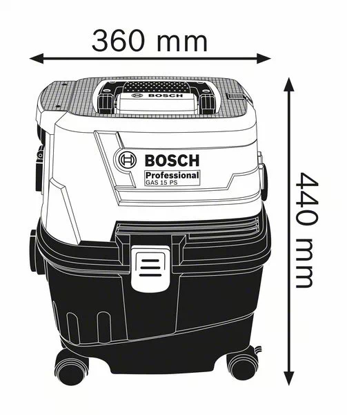Bosch GAS 15 Aspirator, 1100W, 10L 1