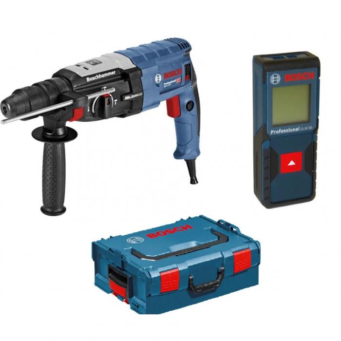 Bosch GBH 2-28 F Ciocan rotopercutor, 880W, SDS-plus + GLM 30 Telemetru cu laser + L-Boxx 0