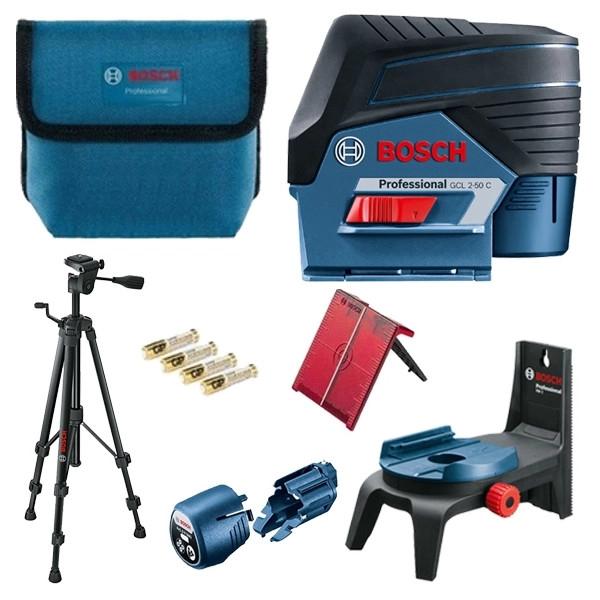 Bosch GCL 2-50 C + RM 2 + BT 150 Set nivela laser cu linii, 20m, receptor 50m, precizie 0.3mm/m [0]