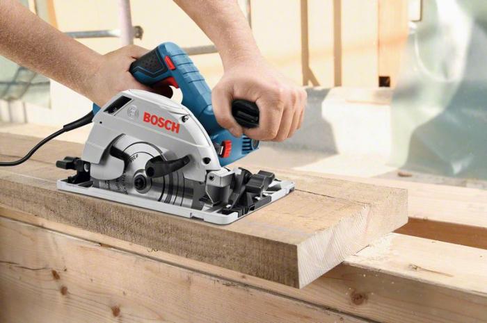 Bosch GKS 55 + GCE Ferastrau circular, 1350W, 165mm, L-Boxx 238 0