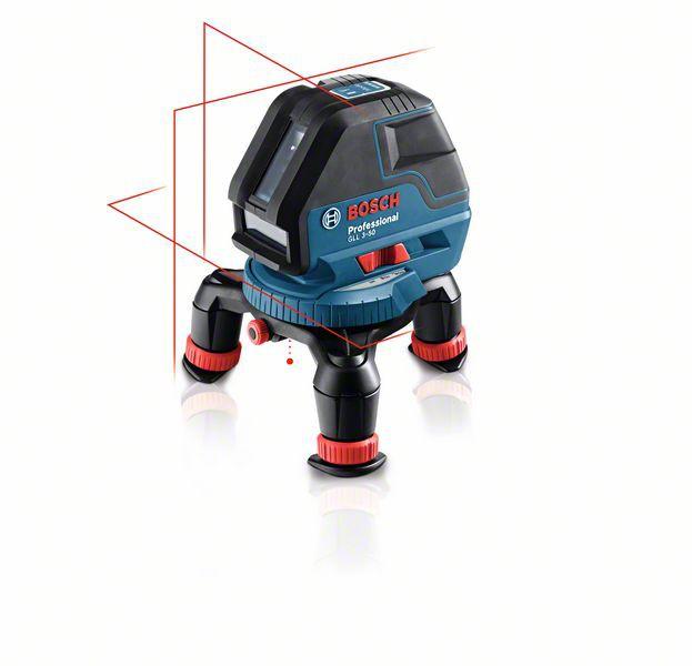 Bosch GLL 3-50+BM1+LR2 nivela laser cu linii, 10m, receptor 50m, precizie 0.3 mm/m + 1 baterie 9V (6LR61) + L-Boxx [0]