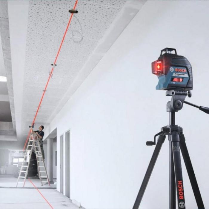 Bosch GLL 3-80 + BT 150 Nivela laser cu linii, 30m, receptor 120m, precizie 0.3mm/m [2]