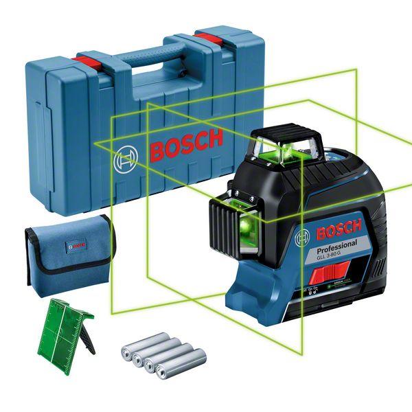 Bosch GLL 3-80 G Nivela laser cu linii verzi (30 m) 1