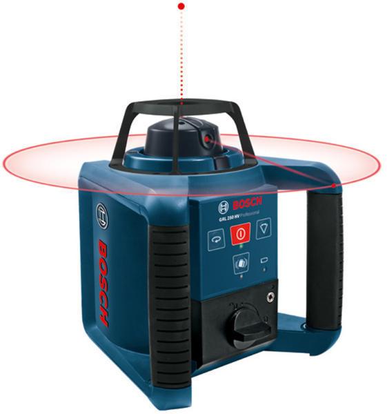 Bosch GRL 250 HV Nivela rotativa, receptor 125m, precizie 0.1 mm/m 0
