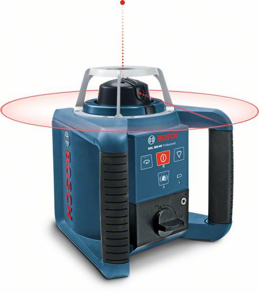 Bosch GRL 300 HV+LR1+RC1+WM4 Set nivela laser rotativa, 60m, receptor 300m, precizie 0.1 mm/m [0]