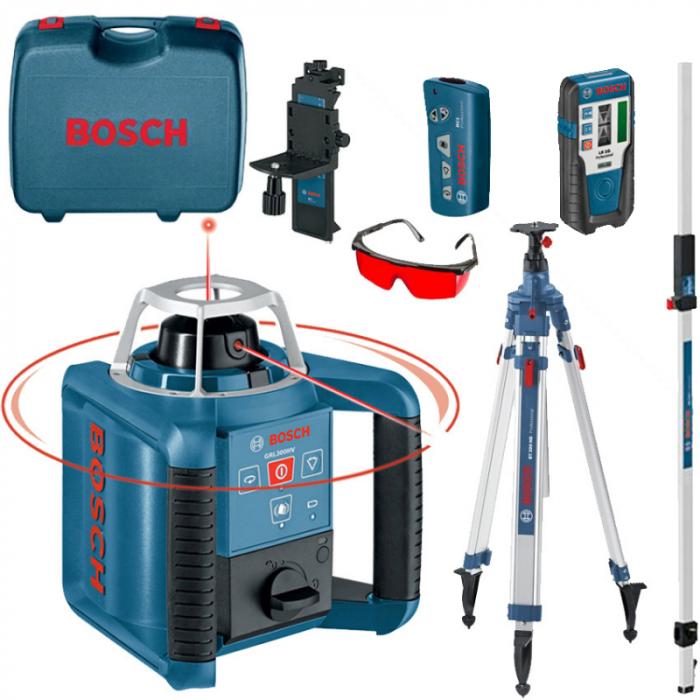 Bosch GRL 300 HVG Nivela laser rotativa + BT 300 Trepied + GR 240 Rigla 0