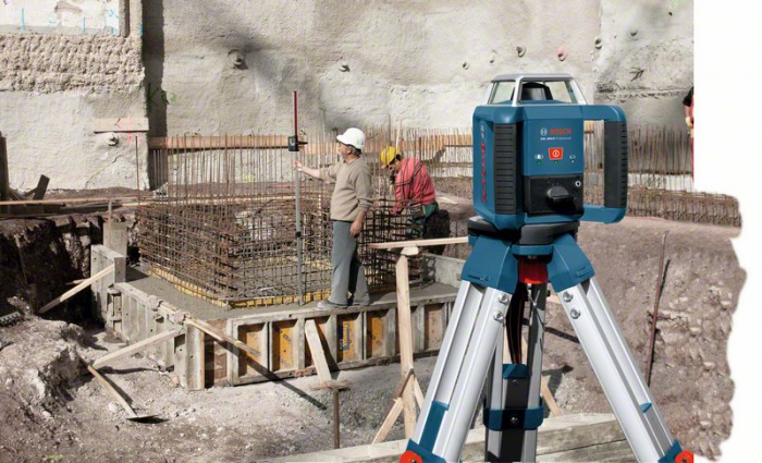 Bosch GRL 400 H Set Nivela laser rotativa, 20m, receptor 400m, precizie 0.08mm/m 1