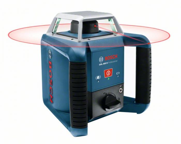 Bosch GRL 400 H Set Nivela laser rotativa, 20m, receptor 400m, precizie 0.08mm/m 0