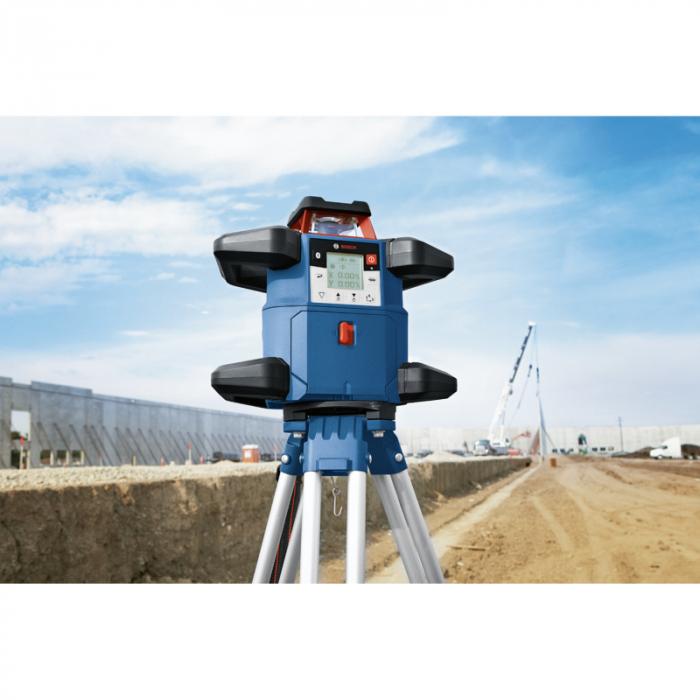 Bosch GRL 600 CHV + BT 170 HD + GR 240 Nivela laser rotativa, 60m, receptor 600m, precizie 0.05mm/m orizontal, 0.1mm/m vertical 2