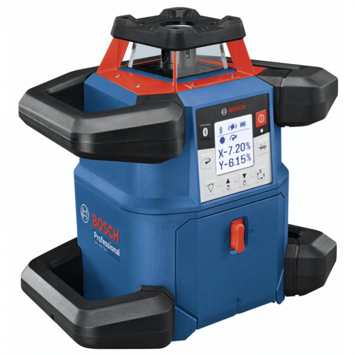 Bosch GRL 600 CHV + BT 170 HD + GR 240 Nivela laser rotativa, 60m, receptor 600m, precizie 0.05mm/m orizontal, 0.1mm/m vertical 1