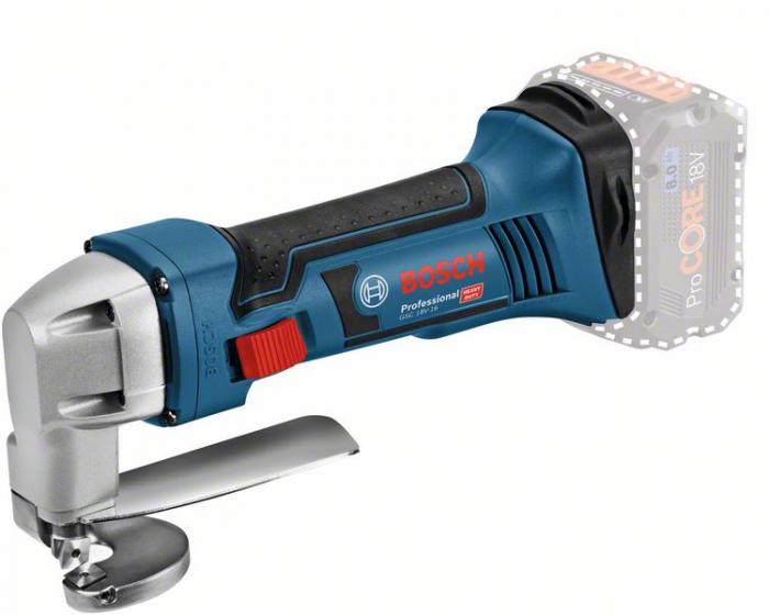 Bosch GSC 18V-16 Foarfece tabla cu acumulator, 18V, otel 1.6mm, cutie carton (solo) 0