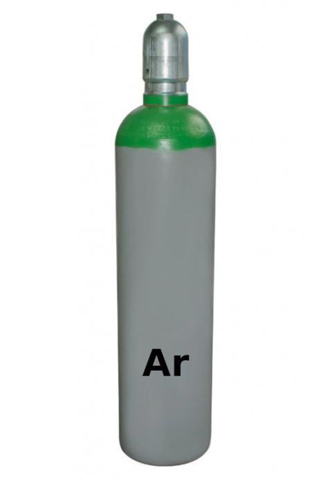 Butelie metalica 10L 200 Bar verde cu 2mc Argon [0]