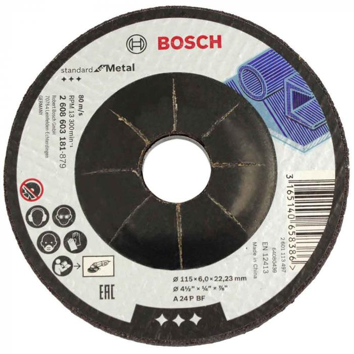 Disc de degrosare cu degajare Standard for Metal A 24 P BF, 115mm, 22,23mm, 6 [0]