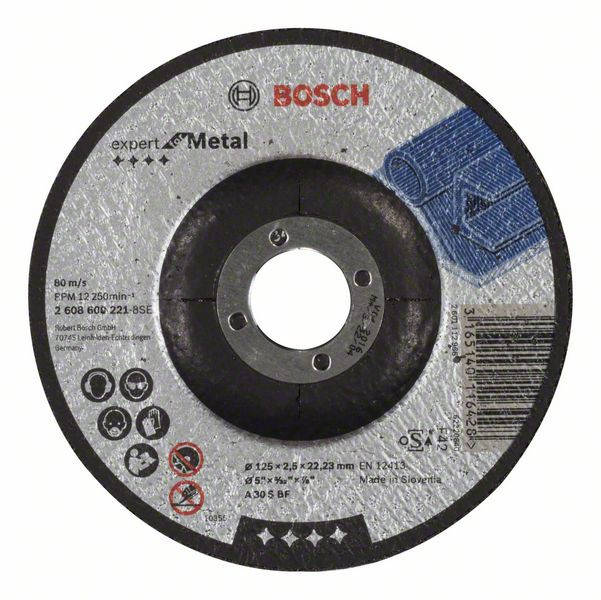 Disc de taiere cu degajare Expert for Metal A 30 S BF, 125mm, 2,5mm [0]
