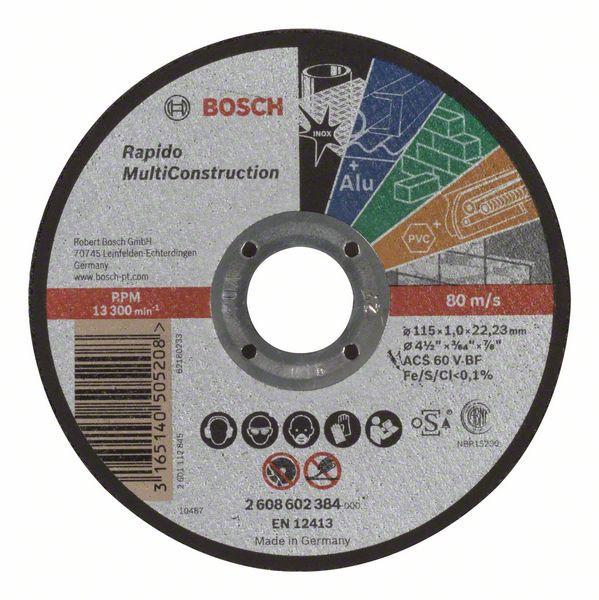 Disc de taiere drept Rapido Multi Construction ACS 60 V BF, 115mm, 1,0mm [0]