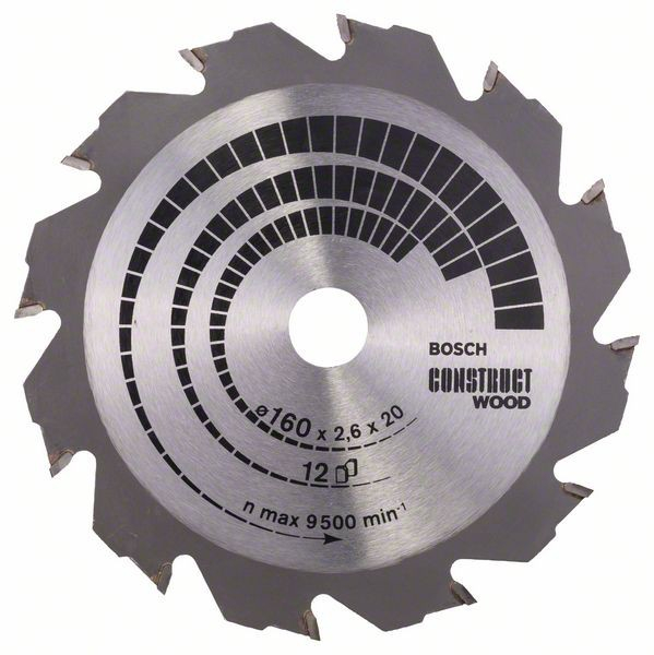 Disc pentru lemn Construct Wood 160x20-16 Z12 [1]