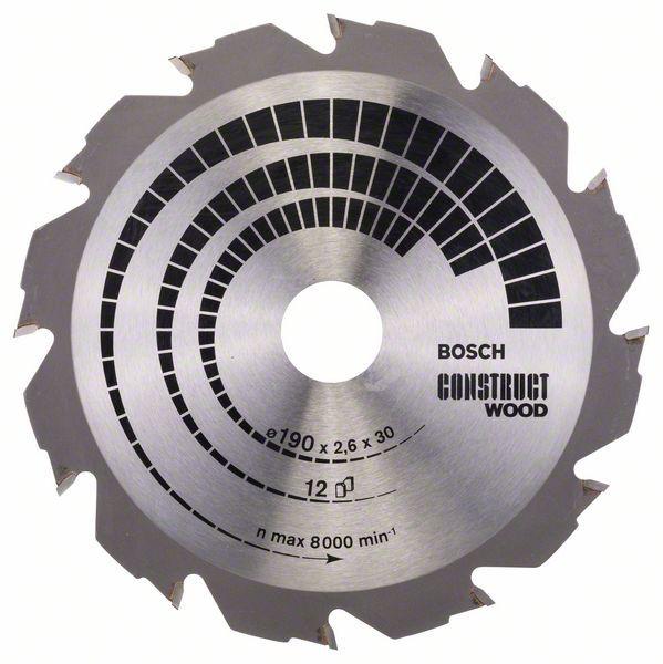 Disc pentru lemn Construct Wood 190x30 Z12 [0]