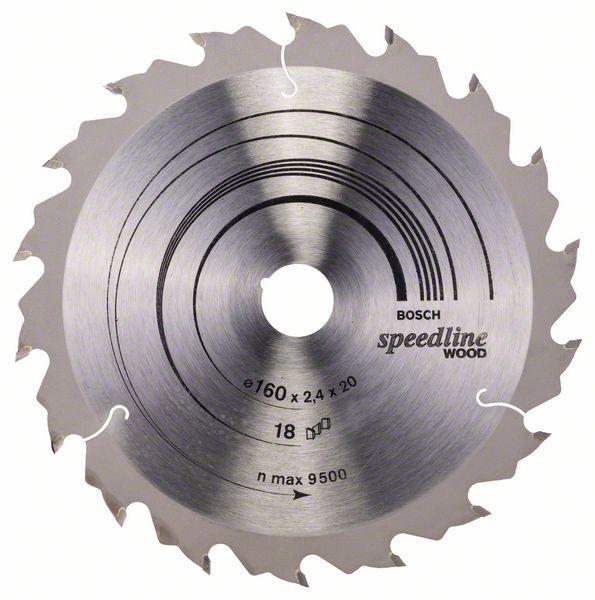 Disc pentru lemn Speedline Wood 160x20 Z18 [0]
