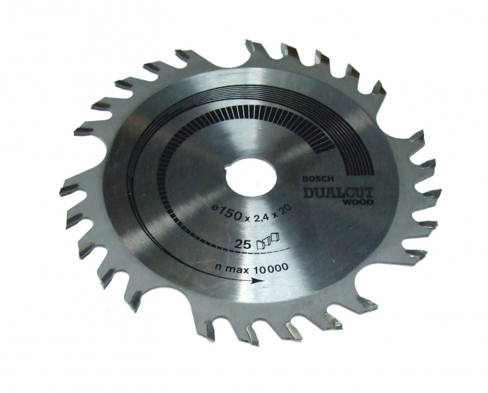 Disc pentru lemn taietura dubla 150 X20 Z25 [0]