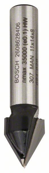 Freza pentru canal in V, 8mm, D1 11mm, L 14mm, G 45mm, 60° 8mm, D1 11mm, L [0]