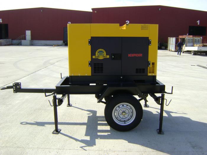 Kipor KDE35SST trailer generator, cadru 2000x1050mm 1