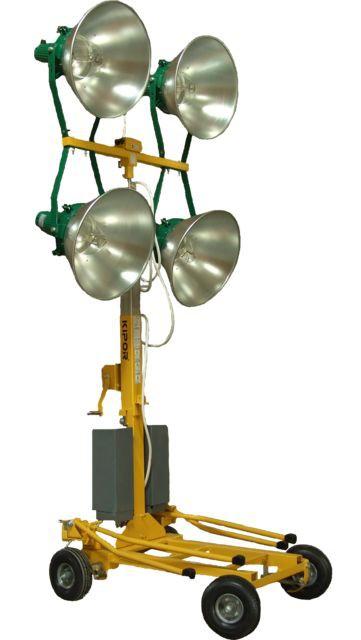 Kipor KLJ 400-4 turn de iluminat 4x400W, halogen, telescopic [0]