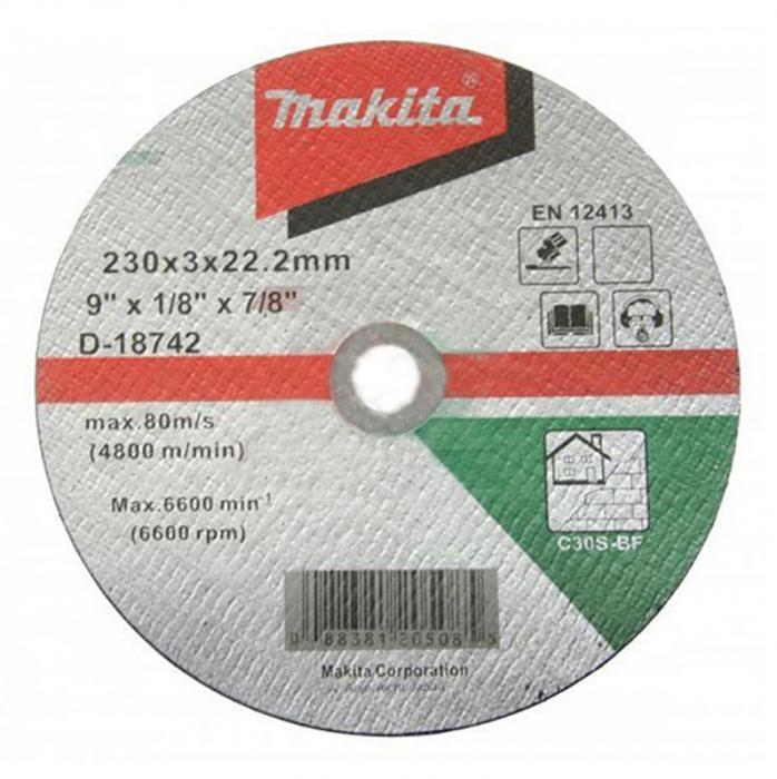 Makita D-18742 Disc taiere piatra, 230x22.2x3mm [0]