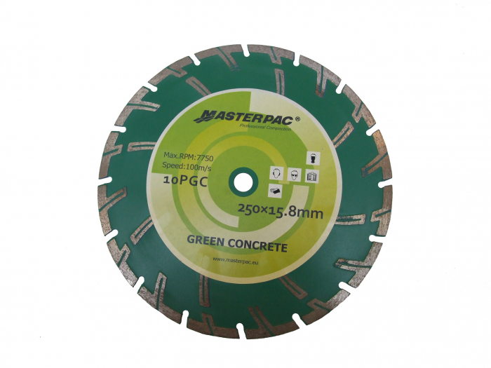 Masterpac Disc diamantat beton crud, 250x15.8mm (PFG 10R) 0