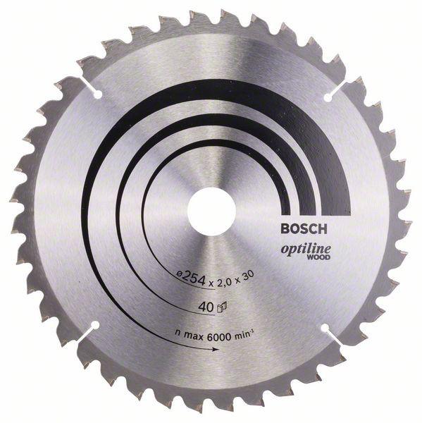Panza de ferastrau circular Optiline Wood 254x30x2,0mm, 40 [0]