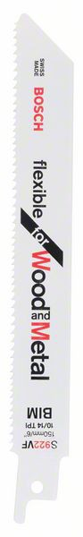 Panza de ferastrau sabie S 922 VF Flexible for Wood and Metal set 5 buc. [0]