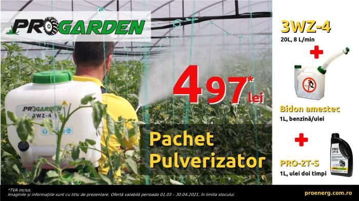 ProGARDEN 3WZ-4 pulverizator 20L, 8 L/min, ulei si bidon amestec [0]