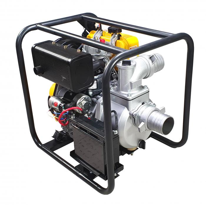 """ProGARDEN PD30E motopompa 3""""/75mm, diesel, apa curata, pornire electrica 2"""