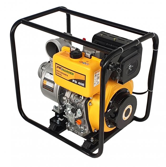 """ProGARDEN PD40E motopompa 4""""/100mm, diesel, apa curata, pornire electrica 2"""