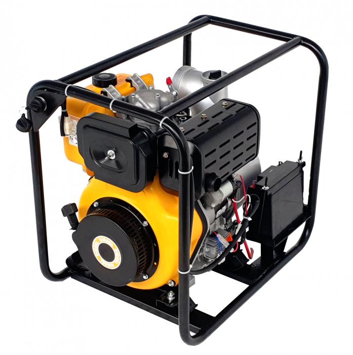 """ProGARDEN PD40E motopompa 4""""/100mm, diesel, apa curata, pornire electrica 1"""