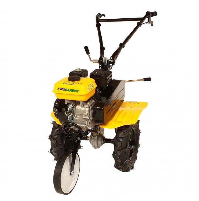 ProGARDEN PRO 7 motocultor 7CP, 2+1 trepte, roti 4.00-8, 2+1 freze, benzina, curele, transmisie aluminiu [Campo 703] [0]