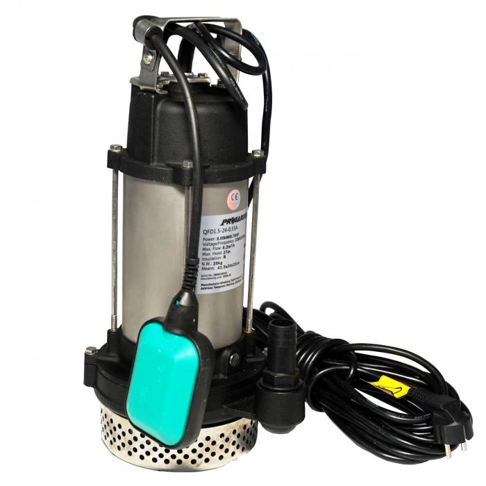 "ProGARDEN QFD1.5-24-0.55A Pompa submersibila 1"", 550W, apa murdara, 100L/min [1]"