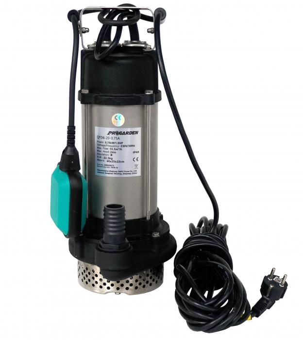 "ProGARDEN QFD6-20-0.75A Pompa submersibila 1.25"", 750W, apa murdara, 175L/min, 20m [0]"