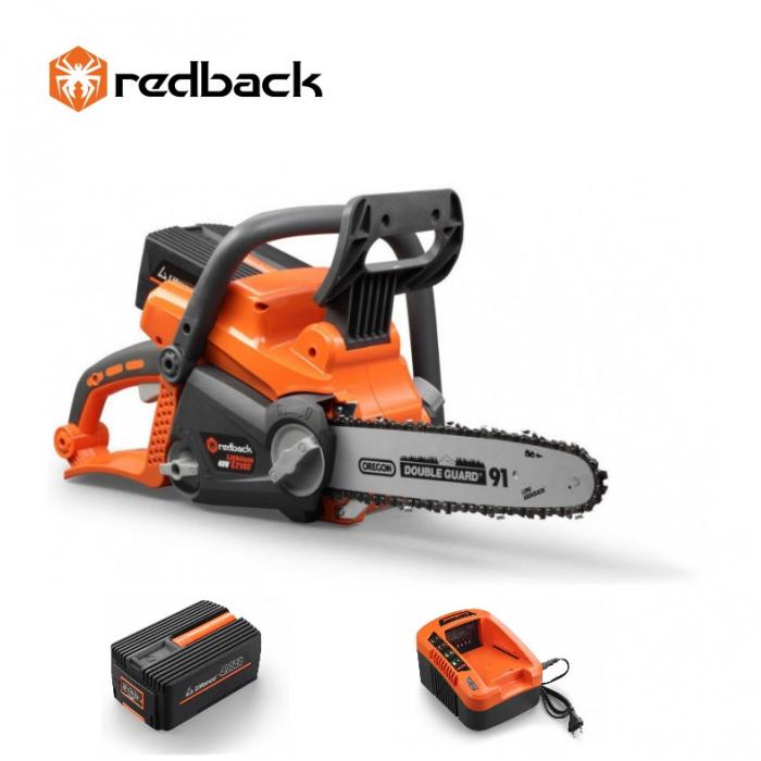 Redback Pachet E212C+EP40+EC20 Ferastrau cu lant 300mm, acumulator 40V/4Ah, incarcator 40V/2A 0