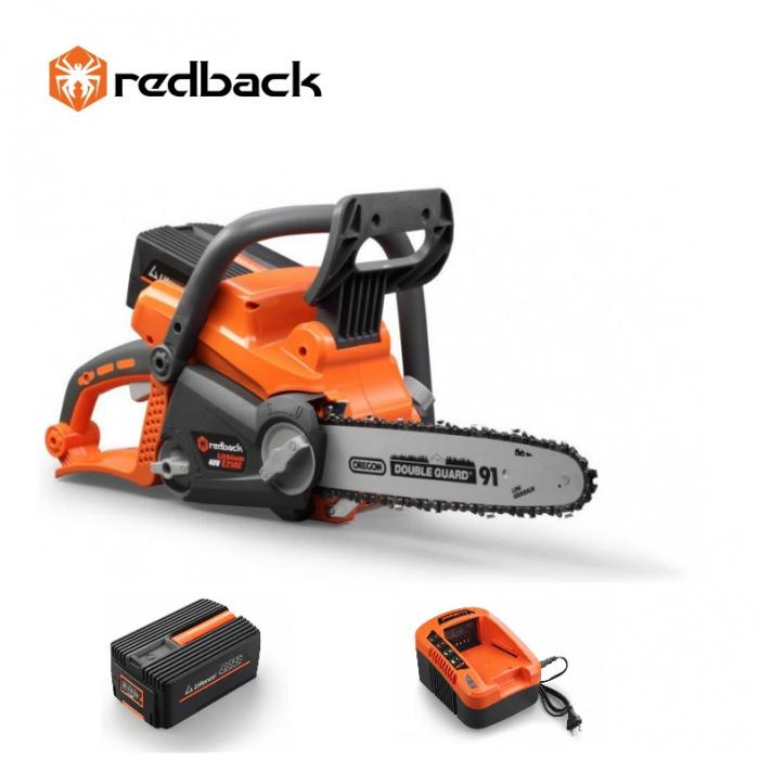 Redback Pachet E214C+EP40+EC20 Ferastrau cu lant 350mm, acumulator 40V/4Ah, incarcator 40V/2A [0]