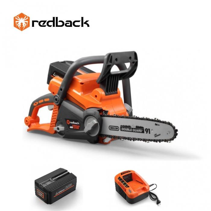 Redback Pachet E214C+EP60+EC50 Ferastrau cu lant 350mm, acumulator 40V/6Ah, incarcator 40V/5A 0