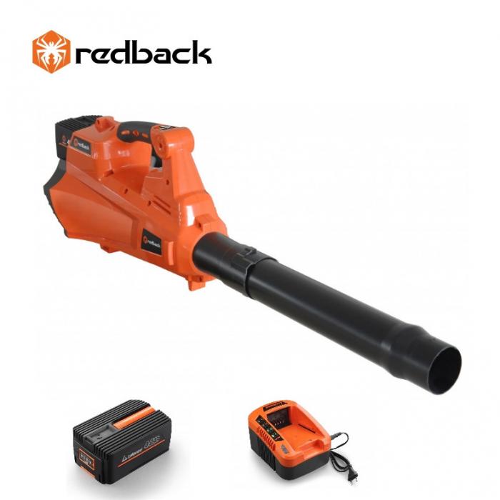 Redback Pachet E435C+EP40+EC20 Suflanta frunze acumulatori 40V, acumulator 40V/4Ah, incarcator 40V/2A 0
