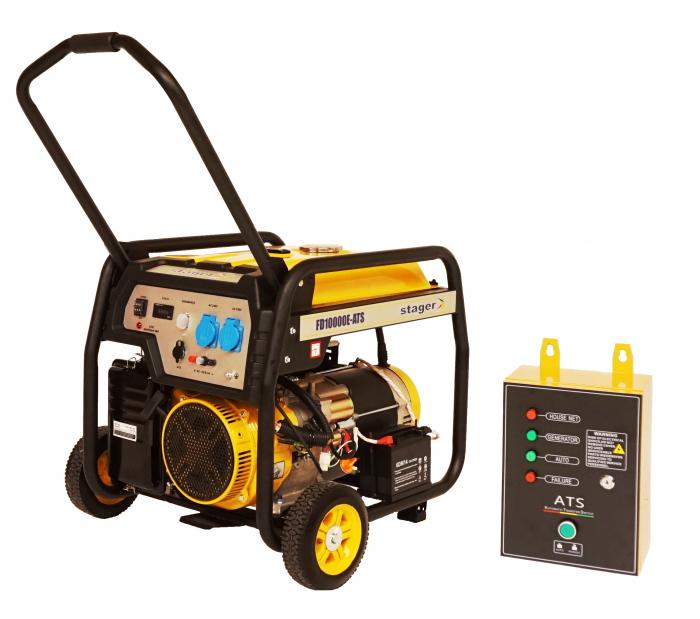 Stager FD 10000E+ATS generator open-frame 8kW, monofazat, benzina, automatizare [0]