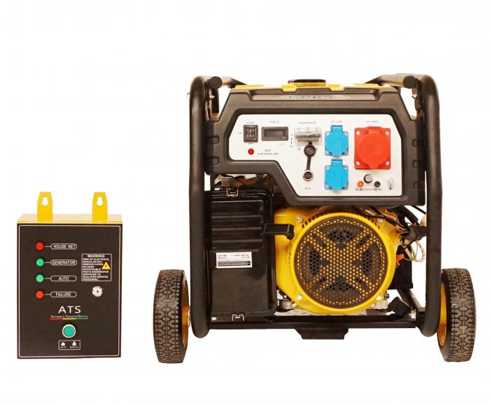 Stager FD 10000E3+ATS generator open-frame 8kW, trifazat, benzina, automatizare [2]