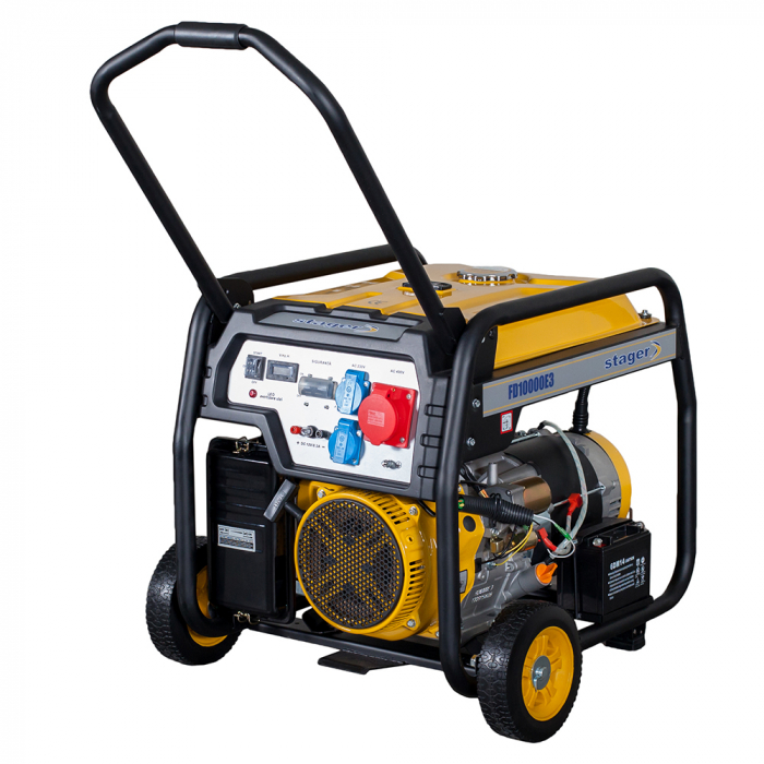 Stager FD 10000E3 generator open-frame 8kW, trifazat, benzina, pornire electrica [0]