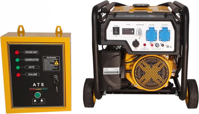 Stager FD 3000E+ATS generator open-frame 2.5kW, monofazat, benzina, automatizare [0]