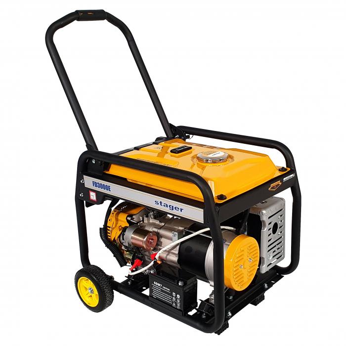 Stager FD 3000E generator open-frame 2.5kW, monofazat, benzina, pornire electrica [1]