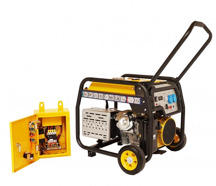 Stager FD 6500E+ATS generator open-frame 5kW, monofazat, benzina, automatizare [1]